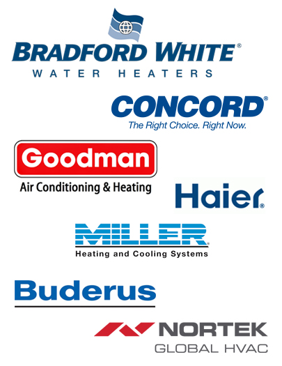 haffner's services manufacturers such as Bradford White, Concord, Goodman, Haier, Miller, Buderus and Nortek
